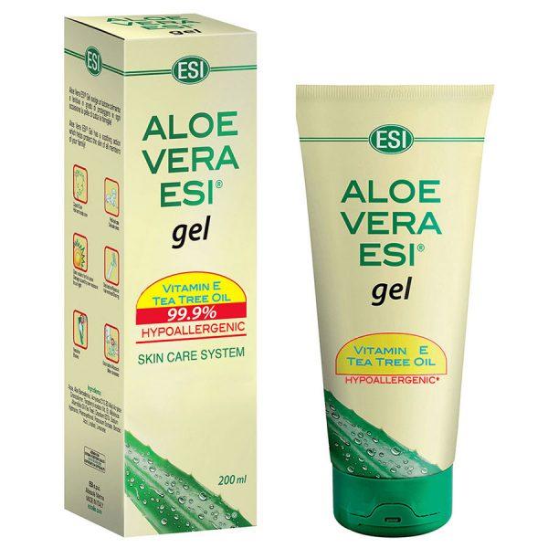 Gel Aloe Vera cu vitamina E și ulei de arbore de ceai 200 ml