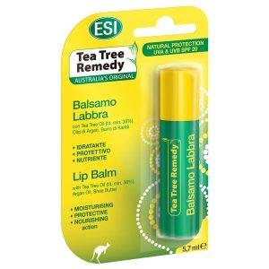 Balsam de buze hidratant cu ulei de arbore de ceai